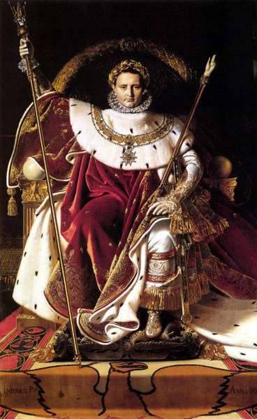 Napoleon Wall Art - Painting - Emperor Napoleon I On His Imperial Throne by War Is Hell Store