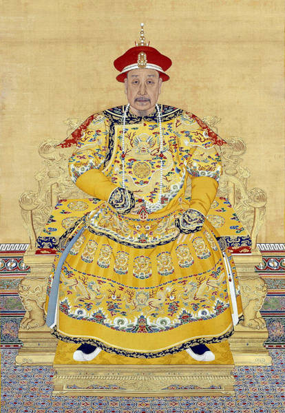 Moustache Photograph - Emperor Qianlong In Old Age by Chinese School