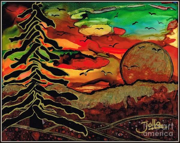 Painting - Emperor's Sun by Jolanta Anna Karolska