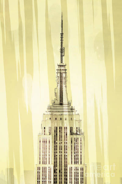 Iconic Digital Art - Empire State Building 2 by Az Jackson