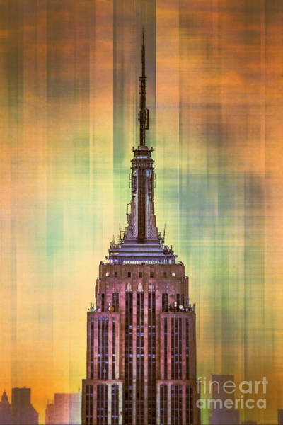 Architectural Digital Art - Empire State Building 3 by Az Jackson