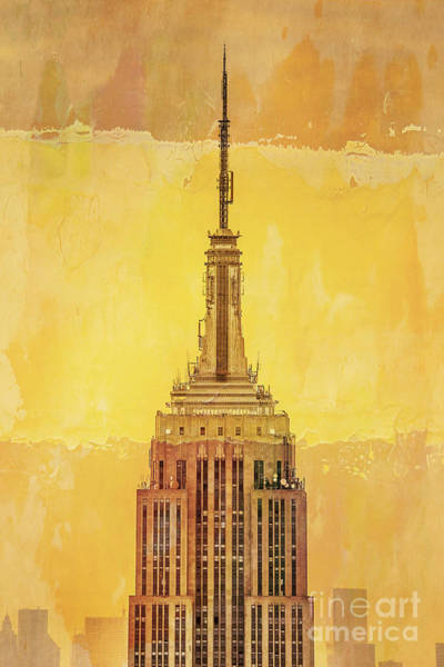 Architectural Digital Art - Empire State Building 4 by Az Jackson