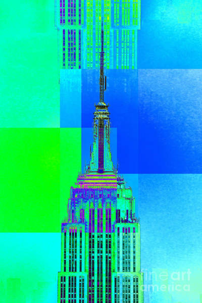 Architectural Digital Art - Empire State Building 5 by Az Jackson