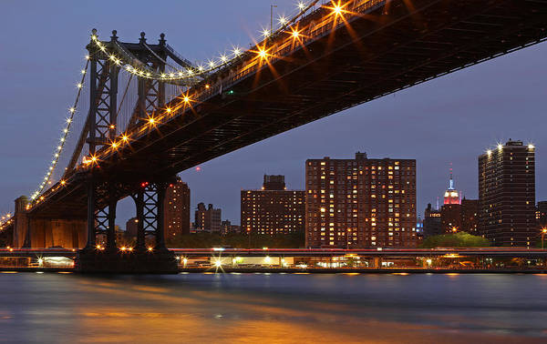 Photograph - Empire State Building And Manhattan Bridge by Juergen Roth