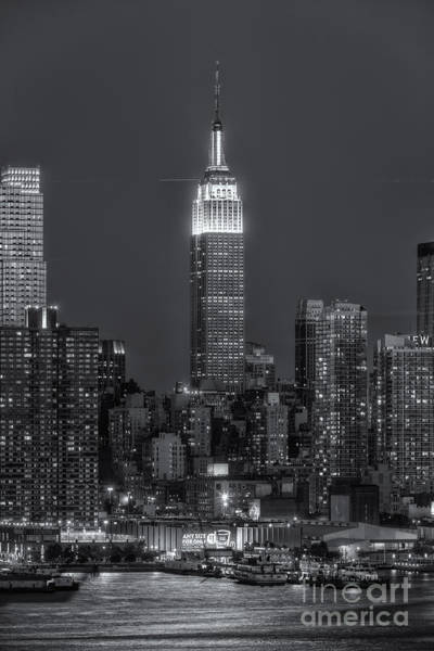 Photograph - Empire State Building By Moonlight II by Clarence Holmes