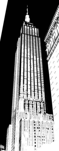 The Empire State Building Digital Art - Empire State Building In Constrasting White by Elizabeth Rye