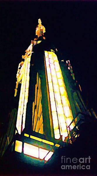 The Empire State Building Digital Art - Empire State Building by John Malone