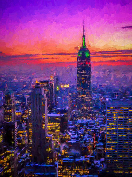 Empire State Building Digital Art - Empire State Building by Michael Petrizzo
