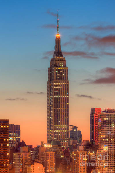 Photograph - Empire State Building Morning Twilight IIi by Clarence Holmes