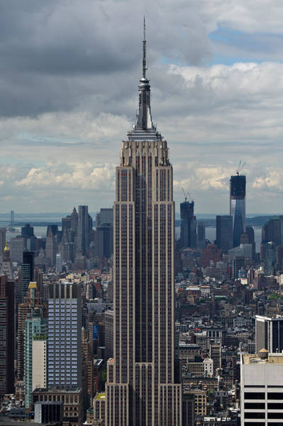 Photograph - Portrait Of The Empire State Building New York by Gary Eason