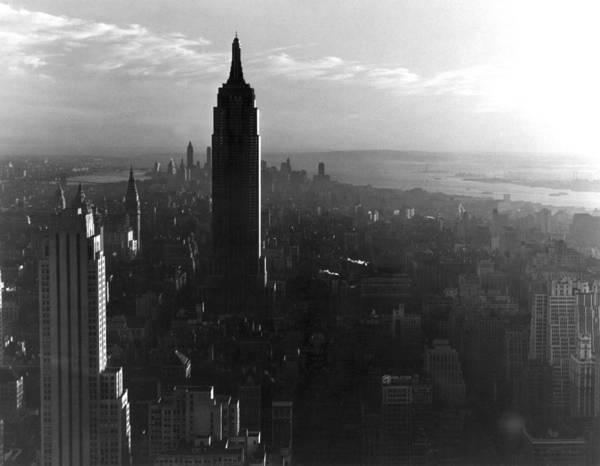 City Scape Photograph - Empire State Building by Underwood Archives