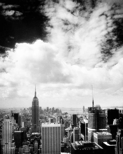 Photograph - Empire State Skyline Ir V by Dave Beckerman