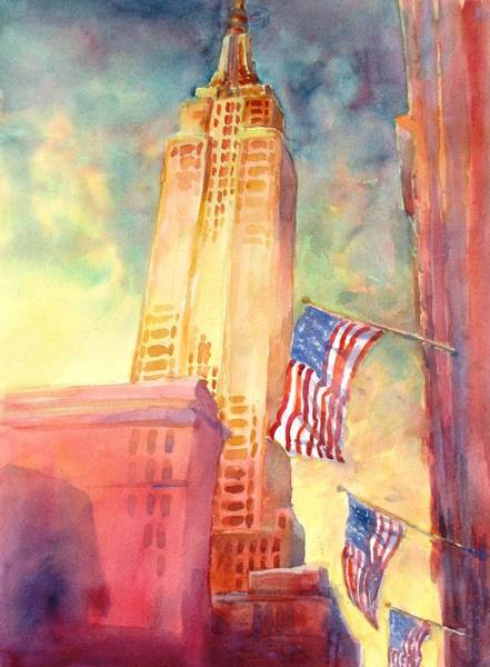 Buildings Wall Art - Painting - Empire State by Virgil Carter
