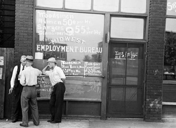 Photograph - Employment Bureau, 1937 by Granger