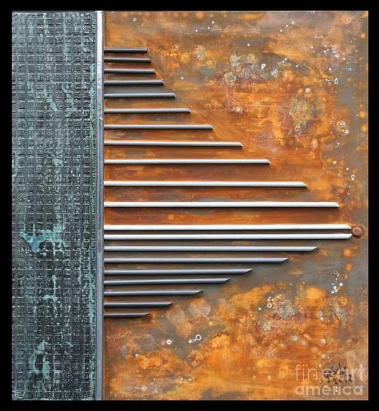 Oxidation Painting - Empore by Gertrude Scheffler