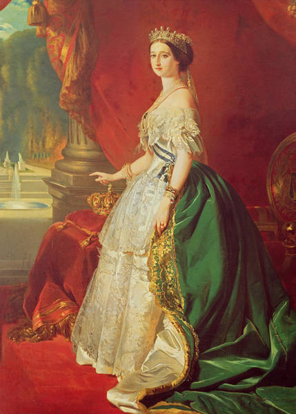 Napoleon Photograph - Empress Eugenie 1826-1920 After A Portrait By Francois Xavier Winterhalter 1806-73 Oil On Canvas by Francois Gabriel Guillaume Lepaulle