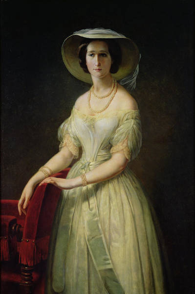 Napoleon Photograph - Empress Eugenie 1826-1920 C.1853 Oil On Canvas by Claude-Marie Dubufe