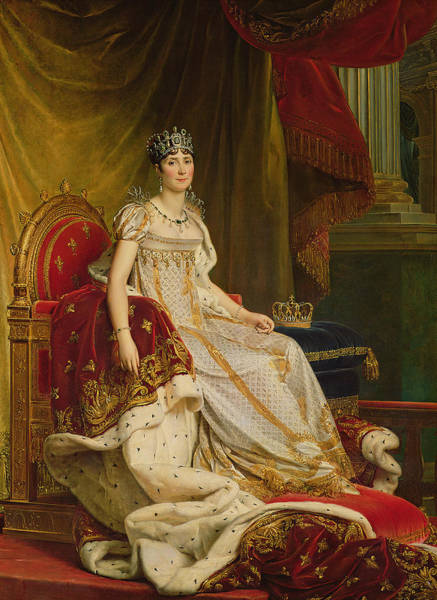 Ermine Wall Art - Photograph - Empress Josephine 1763-1814 1808 Oil On Canvas by Francois Pascal Simon, Baron Gerard
