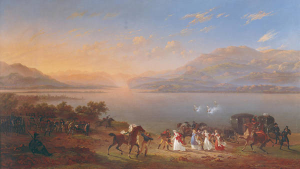 Husband Photograph - Empress Josephine 1763-1814 Arriving To Visit Napoleon 1769-1821 In Italy On The Banks Of Lake by Hippolyte Lecomte