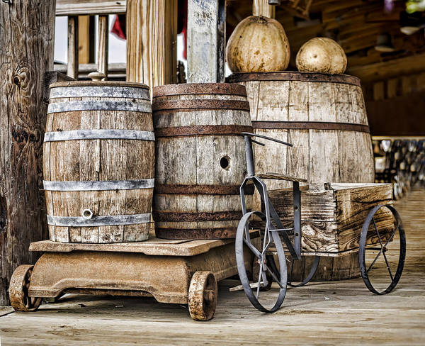 Photograph - Emptied Barrels by Heather Applegate