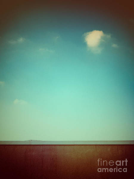 Photograph - Emptiness With Wall And Cloud by Silvia Ganora