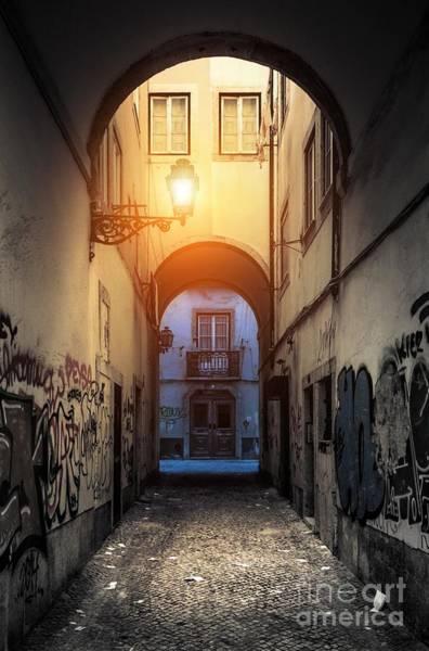 Grimy Wall Art - Photograph - Empty Alley by Carlos Caetano
