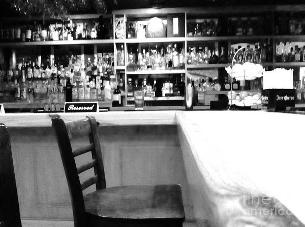 Photograph - Empty Bar Stool by WaLdEmAr BoRrErO