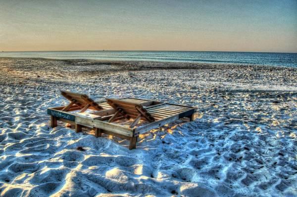 Digital Art - Empty Beach Chairs by Michael Thomas