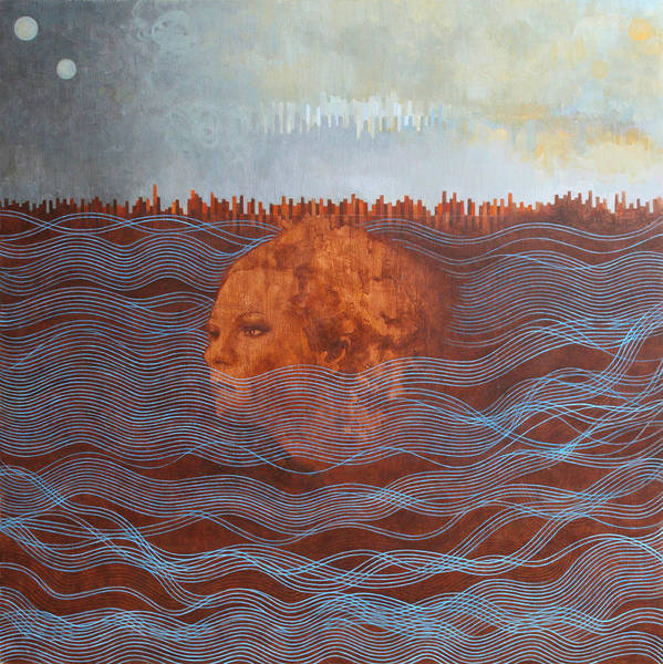 Contemporary Painting - Empty Box by Sandra Cohen
