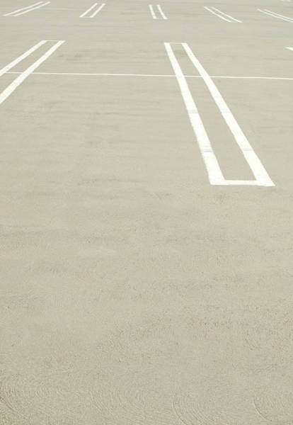 Parking Lot Photograph - Empty Parking Lot Spaces by Pete Starman