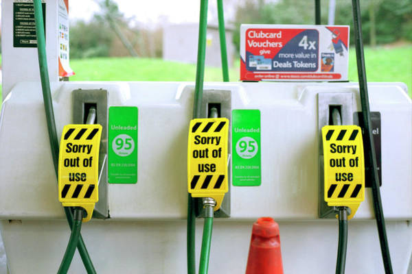 Energy Crisis Photograph - Empty Petrol Pump by Robert Brook/science Photo Library