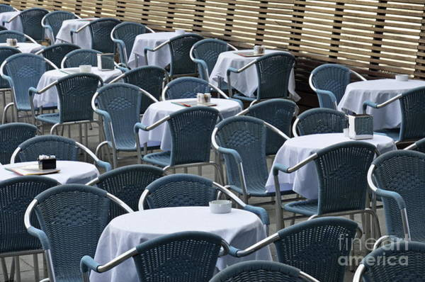 Wall Art - Photograph - Empty Restaurant Seats And Tables by Sami Sarkis