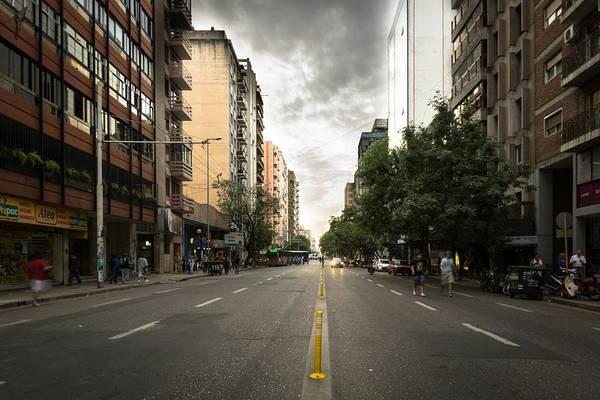 Empty Road Along Buildings Art Print by Andres Ruffo / EyeEm