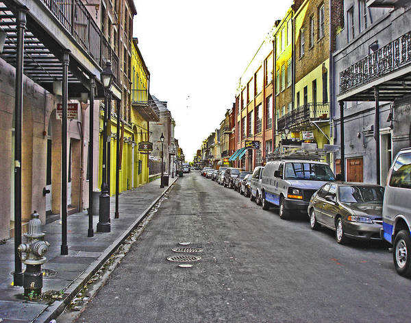 Photograph - Empty Street In New Orleans by Louis Maistros