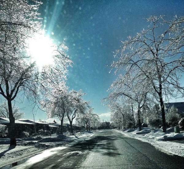 Suburbs Photograph - Empty Street In Winter by Teresa Tagliacozzo / Eyeem