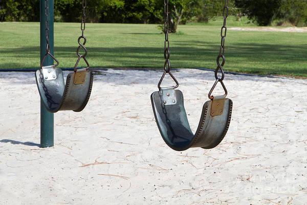 Photograph - Empty Swings by Steven Frame