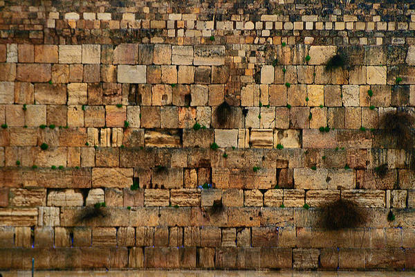 Photograph - Empty Wailing Wall by Doc Braham