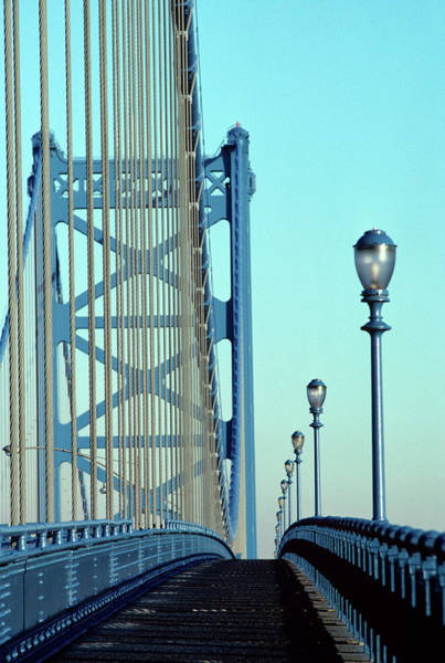 Wall Art - Photograph - Empty Walkway On Benjamin Franklin by Vintage Images
