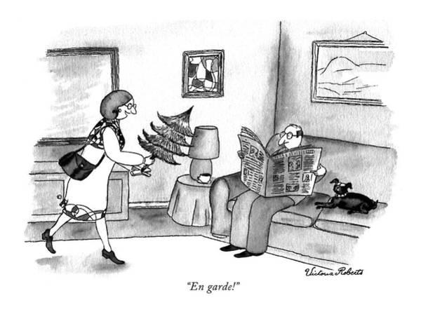 December 19th Drawing - En Garde! by Victoria Roberts