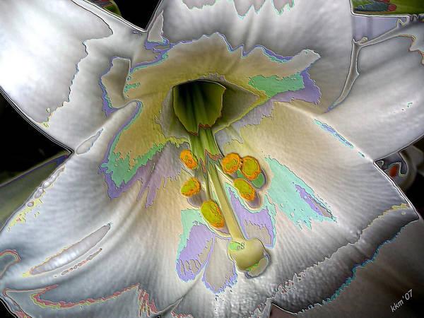 Digital Art - Enameled Lily by Kathy K McClellan