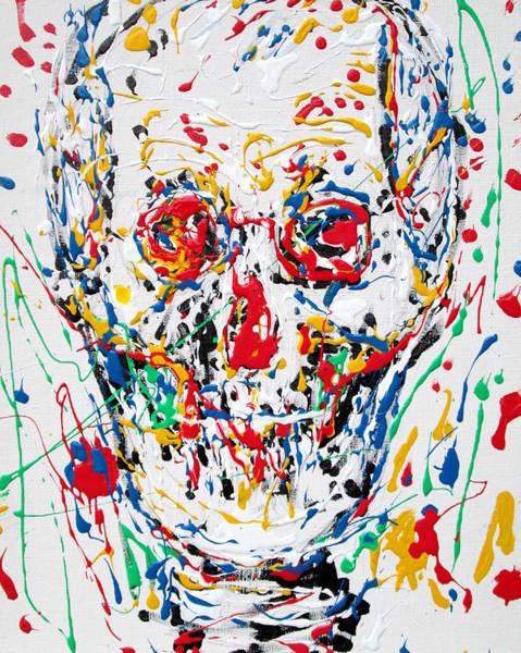 Skull Face Painting - Enamels Skull Painting by Fabrizio Cassetta