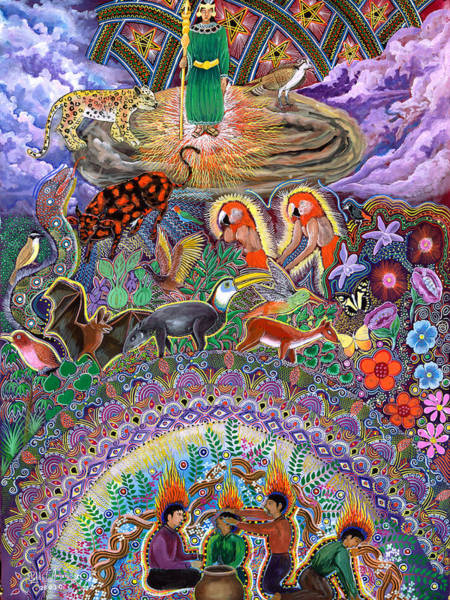 Painting - Encanto Rumi  by Pablo Amaringo
