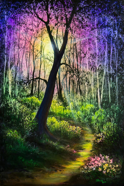Wall Art - Painting - Enchanted Forest by Chris Steele