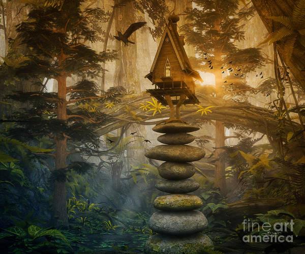 Digital Art - Enchanted Forest by Jutta Maria Pusl