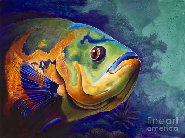 Grouper Painting - Enchanted Reef by Scott Spillman