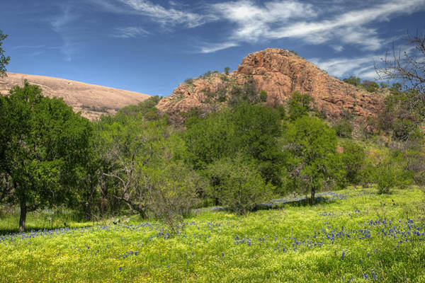 Enchanted Rock State Park Photograph - Enchanted Rock In Spring by Paul Huchton