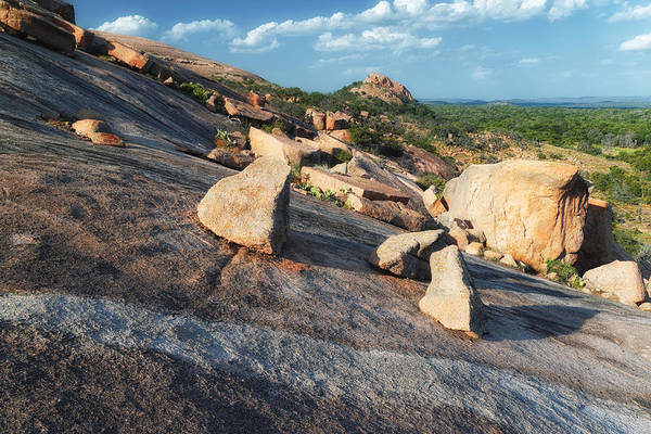 Enchanted Rock State Park Photograph - Enchanted Rock Texas Hill Country Natural Arrangement Of Sliding Boulders At Enchanted Rock by Silvio Ligutti
