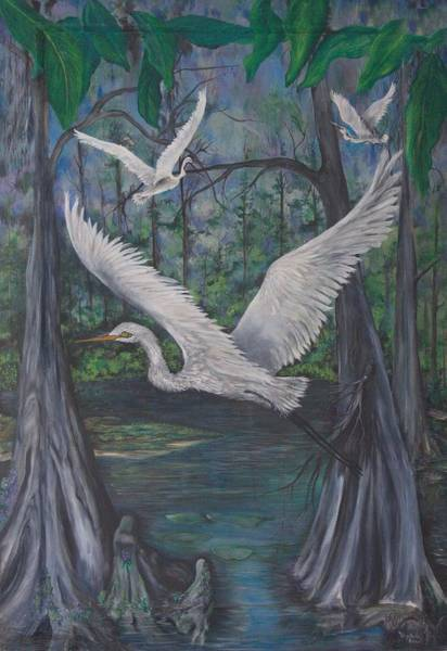 Painting - Enchanted Swamp by Virginia Bond