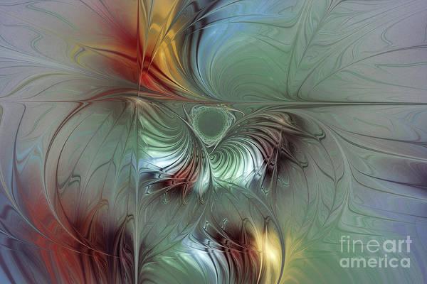 Luminous Digital Art - Enchanting Flower Bloom-abstract Fractal Art by Karin Kuhlmann