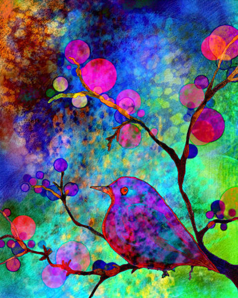 Bird Watercolor Painting - Enchantment by Robin Mead